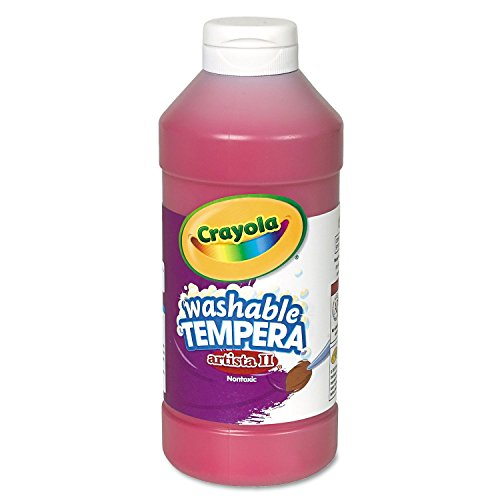 Crayola 543115038 Artista II Washable Tempera Paint, Red, 16 oz