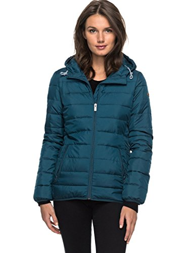 Roxy Forever Freely Chaqueta Aislante, Mujer, Verde (Reflecting Pond Solid), S