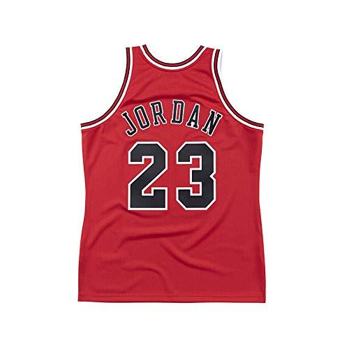 WELETION Hombres # 23 Jordan Baloncesto Jersey Maillot Retro Rojo (XL)