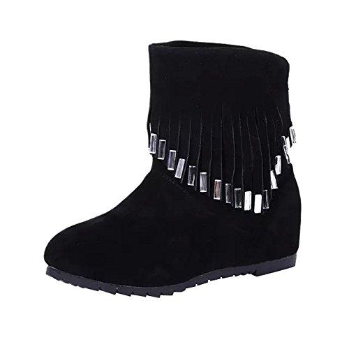 Stiefel Damen, LANSKIRT Quaste Knöchel Stiefeletten Halbschaft Stiefel Plateau Blockabsatz Knöchelhohe Stiefel Boot Sandalen Sneakers Schuhe