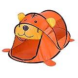 Tienda de campaña para niños Tigre portátil Animal de Dibujos Animados Casa de Juegos para niños al Aire Libre Tienda de Juguete emergente Grande Redes de Interior Juguetes para Piscina de Bolas para