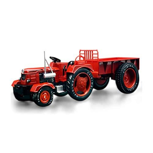 XHAEJ Modelo de automóvil Modelo de Juguete para niños aleación Retro Granja Tractor ingeniería de automóviles simulación Ornamentos estáticos
