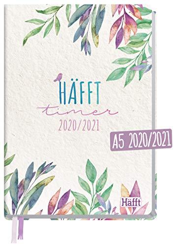 Häfft-Timer 2020/2021 A5 [Tiny Bird] Hardcover Schüler-Kalender, Schüler-Planer, Schulplaner, Semesterplaner für Oberstufe, Ausbildung oder Studium | nachhaltig & klimaneutral