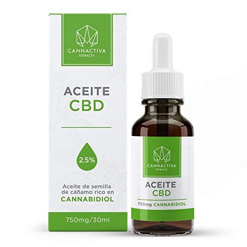 Aceite de CBD - Aceite de semilla de cáñamo rico en Cannabidiol - (30ml, 2,5% Cannabidiol)