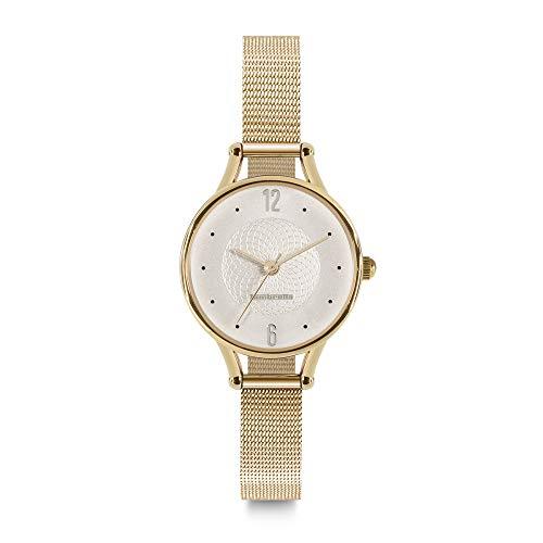 Lambretta - Reloj de Mujer pequeño de Cuarzo, analógico, de Acero y Oro Blanco, Estilo Vintage