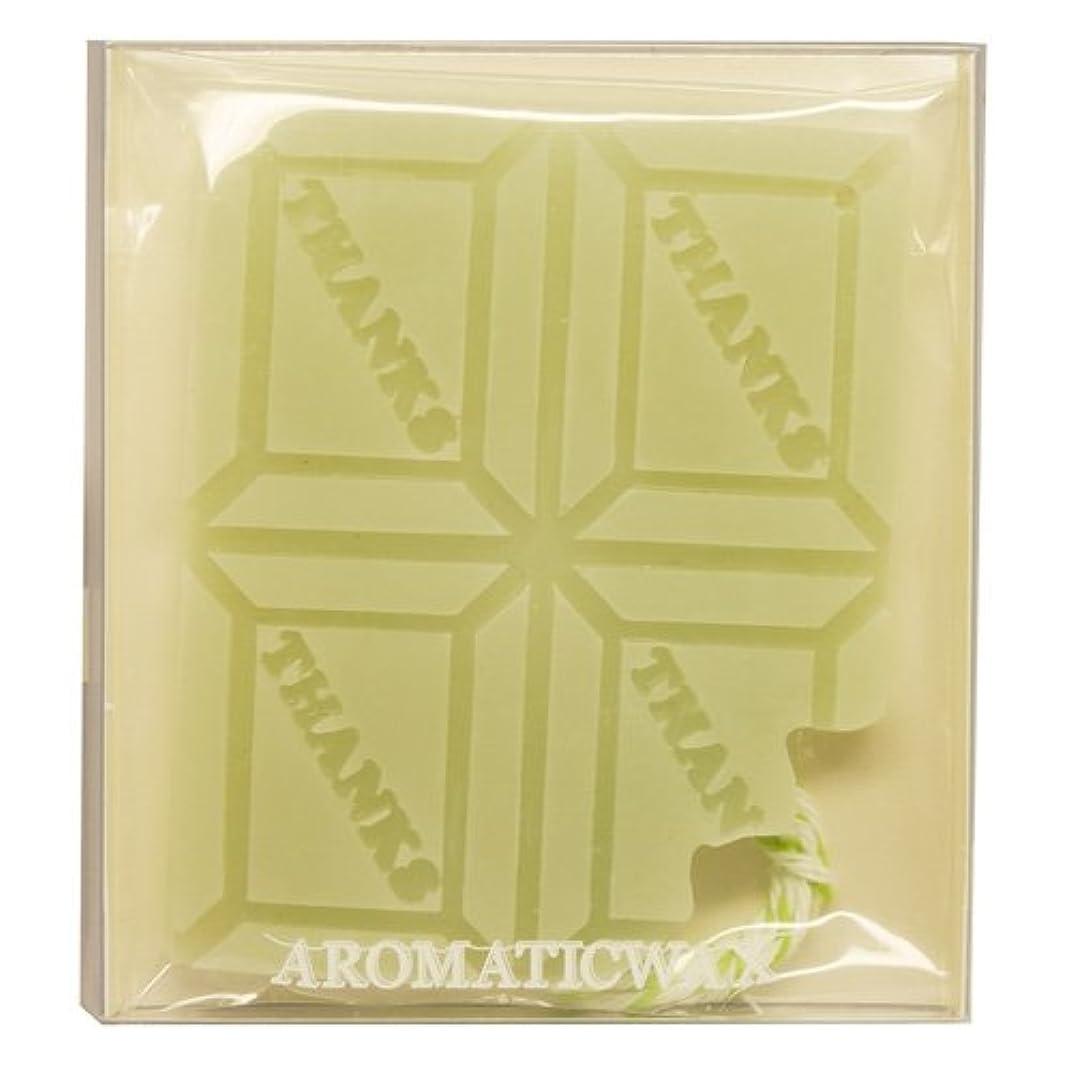 透けるうまくいけば共和国GRASSE TOKYO AROMATICWAXチャーム「板チョコ(THANKS)」(GR) レモングラス アロマティックワックス グラーストウキョウ
