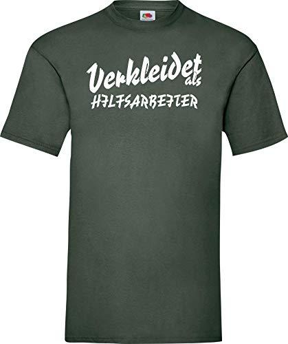 Shirtinstyle Camiseta Carnaval Vestido como Trabajo Experiencia BECARIO LO Mejor Revestimiento Disfraz de Carnaval - Verde, L