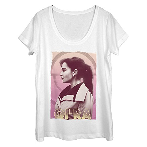 Fifth Sun Solo: A Star Wars Story Women's Qi'ra Profile White Scoop Neck T-Shirt