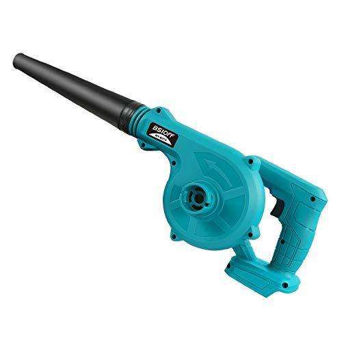 Bsioff Soplador Aspiradora/Soplador de Hojas 2 en 1 de Litio 18V 18000RPM, 180 km/h,Compatible con Makita 18V BL1850B BL1860B Batería (sin batería y Cargador)