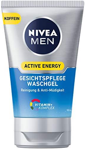 NIVEA MEN Active Energy Waschgel im 2er Pack (2 x 100 ml), energiespendendes Reinigungsgel für belebte Haut, erfrischende Gesichtsreinigung