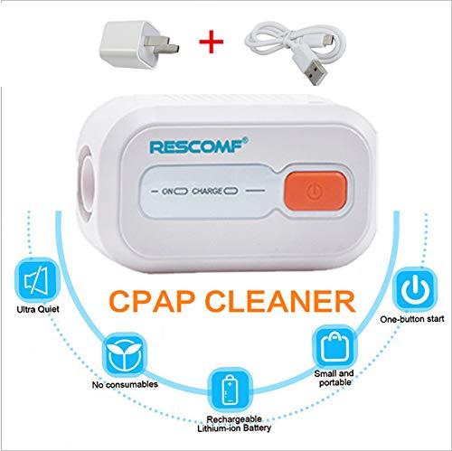 LLQ Cpap-Reiniger, Tragbare Reise-Cpap-Reinigungsmaschine, für Cpap-Maschinenmasken-Zubehör für reguläre und beheizte Schläuche