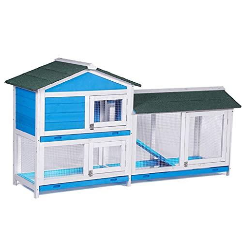 Gallinero de madera de doble capa, grande, fácil de limpiar, jaula para...