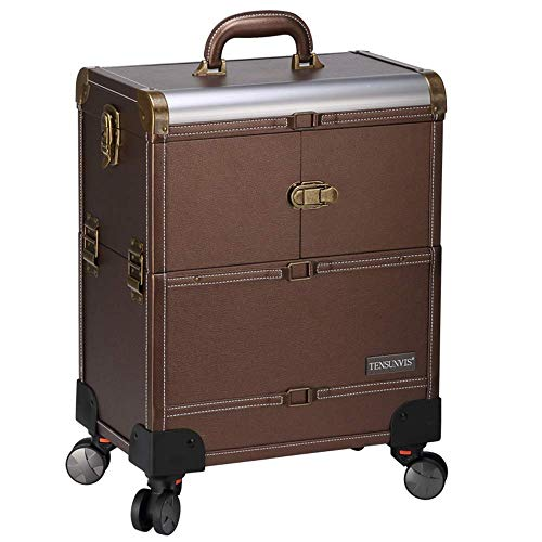 DDL Rolling Large Storage Cosmetic Suitcase Trolley Barber Hairdressing Luggage Traveling Ca