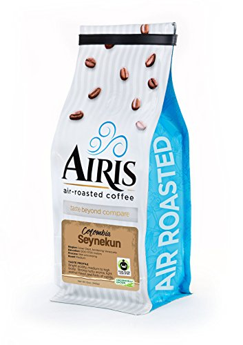 FTO Colombia Seynekun Coffee, Whole Bean, AIR ROASTED COFFEE by Airis Coffee Roasters (12oz bag)