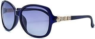 LUKEEXIN Ladies Classic Fashion Sunglasses, Polarizer, Retro (Color : Blue)
