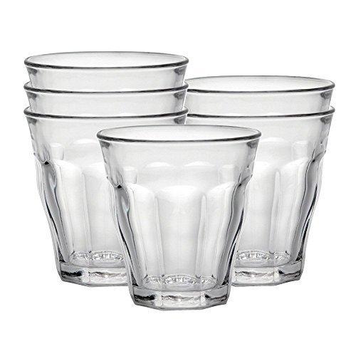 Duralex 511970 Picardie Trinkglas, Wasserglas, Saftglas, 130ml, Glas, transparent, 6 Stück