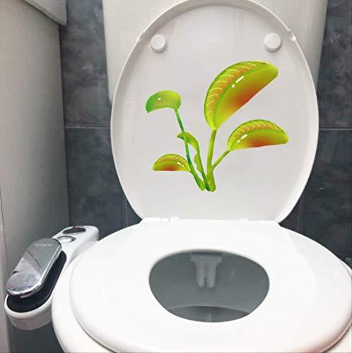 Toilettensitz Aufkleber Grünpflanze Fliegenfalle Lustige Mode Startseite Wandtattoo 23,9 * 22,1 Cm