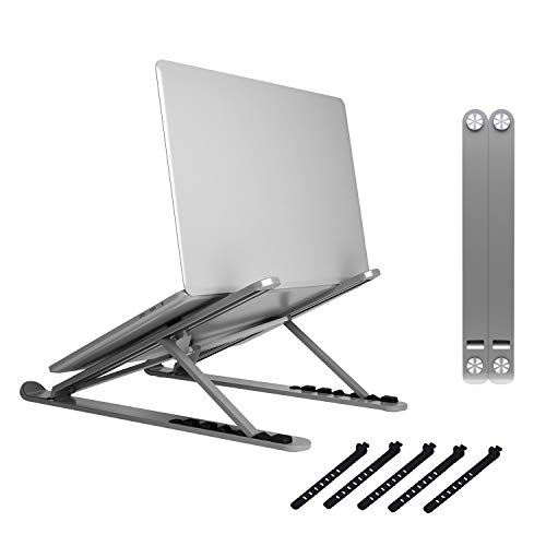 Zylpha Portable Laptop Stand for 10 inch to 173 inch Laptops Universal Adjustable Laptop Stand Foldable Compact Laptop Stand for Traveling with Non-Slip Technology Grey