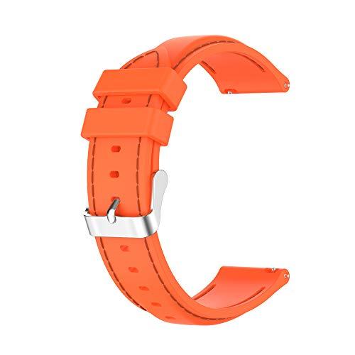 BoLuo 22mm Correa para Huawei Watch GT2 46MM,Correas De Reloj, Bandas Correa Repuesto,Silicona Reloj Recambio Brazalete Correa Repuesto para Huawei watch GT 2e/Watch GT42mm/46mm/GT2 pro (naranja)