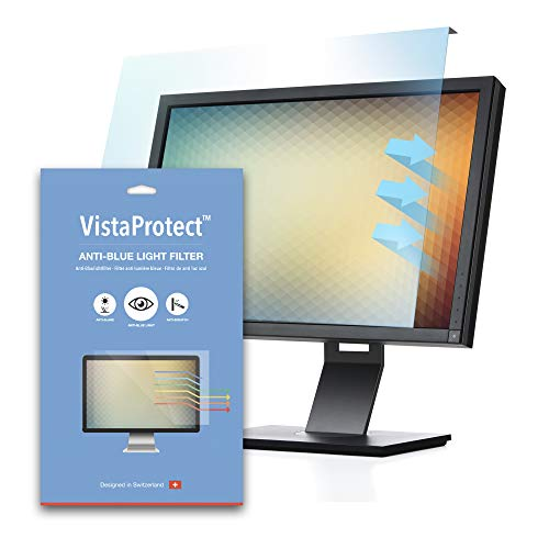 VistaProtect - Premium Anti Blue Light Filter & Protector for Monitors and PC Computer Screens, Easy On/Off Removable (Universal 20' to 22' inches)