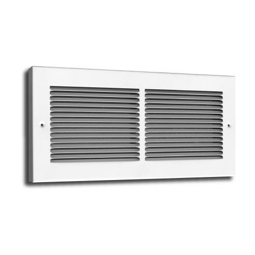 Truaire C123RW 14X06(Duct Opening Measurements) 3/4-Inch Margin Turnback 1/3-Inch Space Fin Floor Return Grille 14-Inch by 6-Inch Floor Baseboard Register, White
