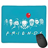 Friends of Horror Funny Halloween Scary Movies Michael Myers Jason Alfombrilla de ratón Antideslizante para Juegos, computadora de Escritorio