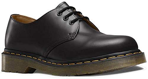 Dr. Martens - 1461 3-Eye Leather Oxford Shoe for Men and Women, Black Smooth, 11 US Women/10 US Men