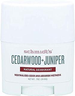 Schmidt's Cedarwood + Juniper Natural Deodorant Stick Travel Size 0.7 oz / 19.8 g