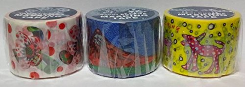草間彌生 マスキングテープ 3個セット わが永遠の魂