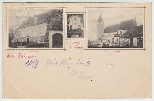 Stift Ardagger. Schloß. Inneres der Stiftskirche. Kirche.