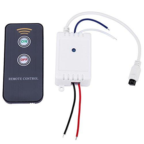 Interruptor de Relé, 1CH 12V Infrarrojo Módulo de Control Remoto IR Receptor Inalámbrico Interruptor de Relé ON/OFF Conectores NO y NC