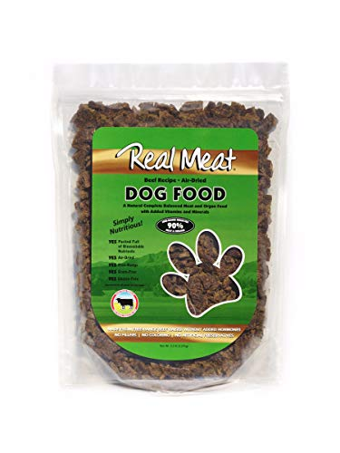 Real Meat 5lb Air-Dried Dog Food, Beef