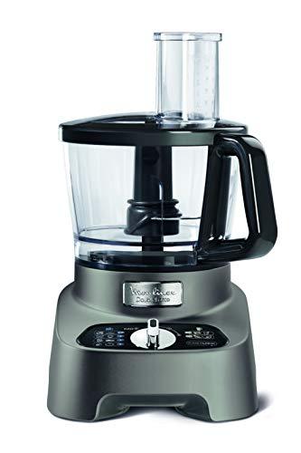 Moulinex DoubleForce FP825E Robot da Cucina, 1000 W, 3 Litri, 2 velocità, Nero, Grigio