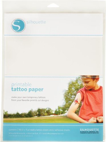 Silhouettes Papel de inyección de tinta para imprimir tatuaje temporal - 2 hojas