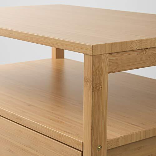 MSAMALL NORDKISA Nachttisch Bambus 60x40 cm robust & leicht zu pflegen Beistelltisch Couchtisch Beistelltisch Tisch und Schreibtisch Möbel Umweltfre&lich