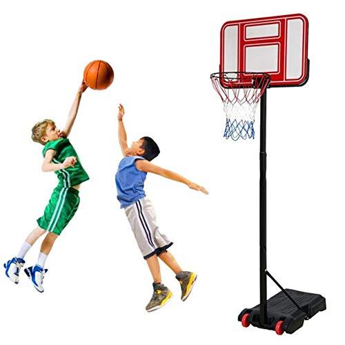 Angelay-Tian Aro de Baloncesto for niños Set, Set Portable Ajustable del Baloncesto, for Adultos niños al Aire Libre de Interior