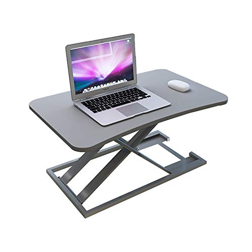 FEI - Bureau debout Rehausseur d'écran de station de travail X-Frame réglable en hauteur pour bureau, ordinateur de bureau et ordinateur portable pour tous les postes de travail ( Couleur : Gray )
