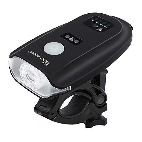 F Fityle Luz Delantera para Bicicleta, Faro USB PX4, Impermeable, Luz de Seguridad de Visibilidad
