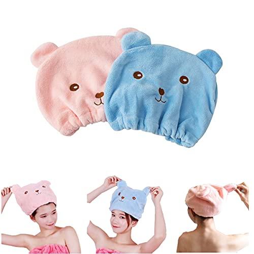 Turban Handtuch,Biluer 6PCS Schnelltrocknend Haarturban Trockene Haarkappe Haartrockentuch für Damen Erwachsene oder Kinder