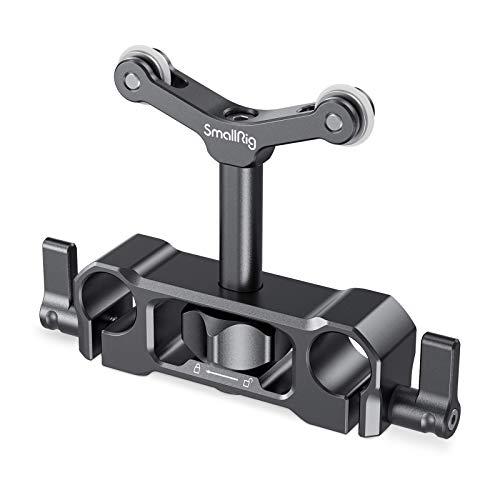 SMALLRIG Linsenunterstützung mit 15mm LWS Stangenklemme, 15mm Lens Support Kompatibel mit einem Durchmesser von 73 mm bis 108 mm Objektiv - 2727