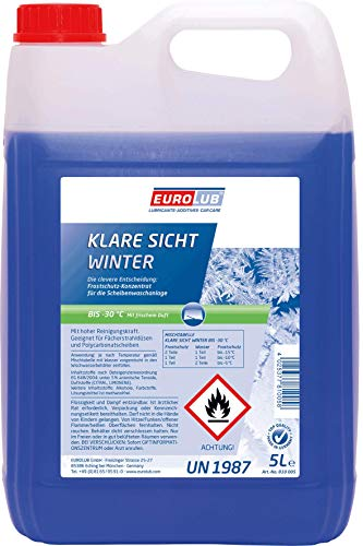 EUROLUB Scheibenfrostschutz KLARE SICHT Winter -30°C Fertigmischung, 5 Liter