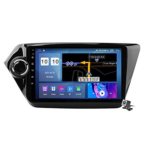 Gokiu Android 10 2 DIN Radio De Coche Navegacion GPS para Kia Rio 3 2011-2015 Soporte 5G WiFi DSP/FM Am RDS Radio de Coche Estéreo Carplay Android Auto/Bluetooth SWC/Voice Control,M600s