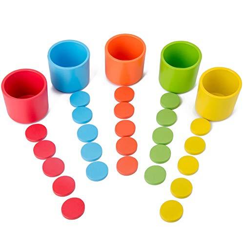Sxgyubt Frühbildung, Farbklassifikation, Kindergarten-Spiel, Holz-Tischplatte, Multifunktions-Puzzle-Spielzeug, siehe abbildung, One size
