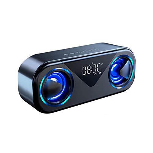 WMC Lautsprecher LED-Uhr Bluetooth, 10W Bewegliche Drahtlose Stereo Bass HiFi-Lautsprecher Mit Flash Support TF-Karte AUX-Freisprecheinrichtung