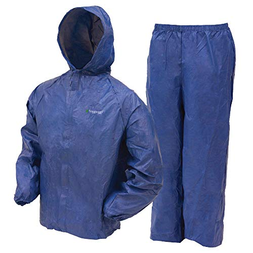 Frogg Toggs Ultra-Lite2 Water-Resistant Breathable Rain Suit, Men's, Women's, and Youth Styles Available, Blue, Youth, Size Large