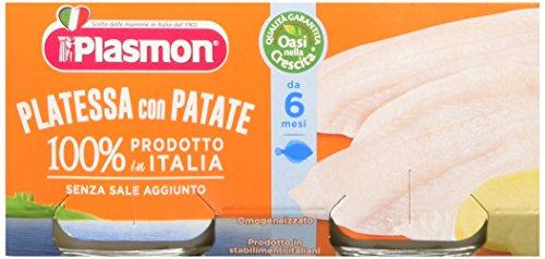 Plasmon 70185900 Omogeneizzato di Pesce di Platessa - 2 Confezione da 160 gr