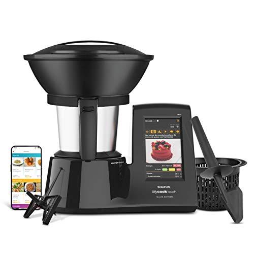 Taurus Mycook Touch Black Edition - Robot de Cocina con wifi, 1600W, 2L, hasta 140º, multifunción, miles de recetas gratuitas e ilimitadas, app mycook, conectividad con tu smartphone, Vaporera
