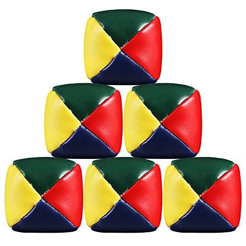 Girls\'love talk 6er Set Jonglierbälle, Premium Jonglierbälle, 60mm Jonglierball - Füllung aus nachhaltiger Vogelhirse - wasserabweisendes Kunstleder - Jonglier-Set zur Jonglage