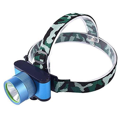 LGF Helmet Nuit Camping tête Torche Sports de Plein air éclairage projecteur LED lumière Pratique phares de Lecture vélo Peut recharger Les phares Bleu et Blanc lumière