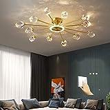 JICAI Lámpara de techo lámpara moderna araña cristal con diseño elegante colgante salón regulable luces pasillo sala estar en casa